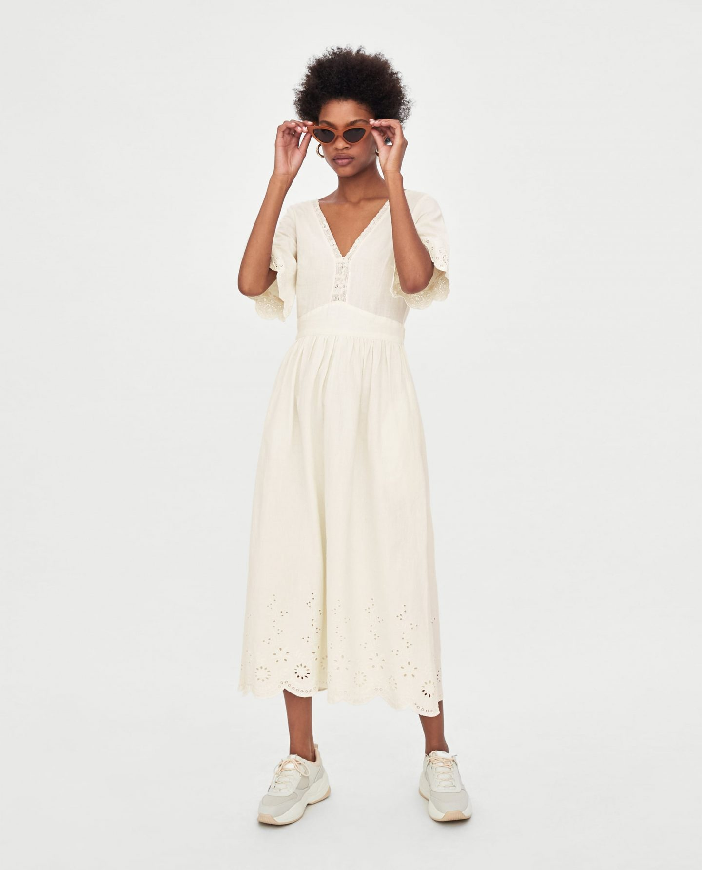 cd319d016c4 https   www.zara.com ie en embroidered- Pin this image on Pinterest.  Embroidered midi dress ...